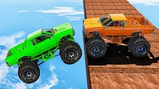 MILE HIGH MONSTER TRUCK DERBY FAIL! - GTA 5 Funny Moments