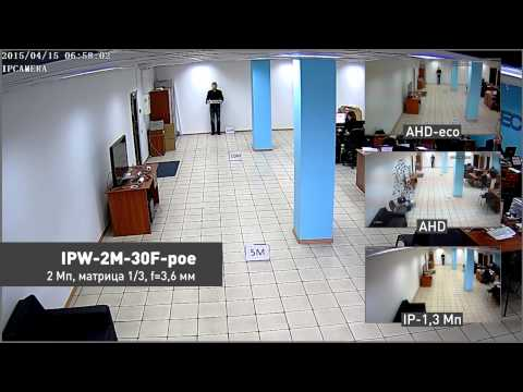 Сравнение видеокамер AHD и IP камер видеонаблюдения