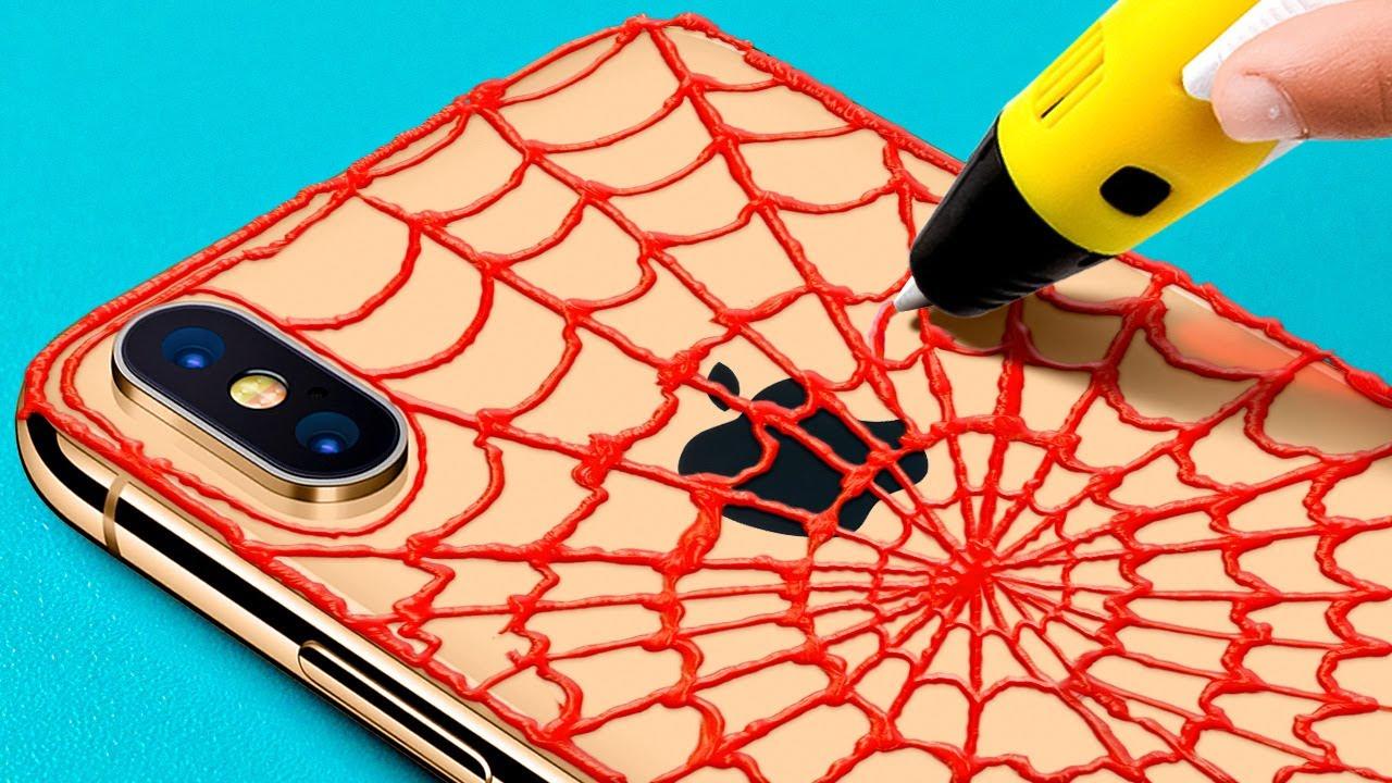 멋진 DIY 학용품 18가지 || 글루건과 3D 펜 공예
