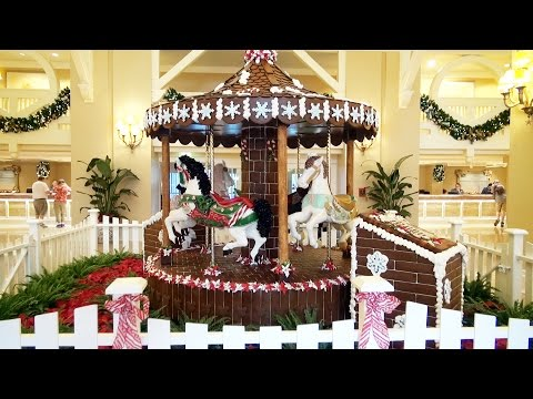 Gingerbread Carousel at Disney's Beach Club Resort, Holidays at Walt Disney World 2015