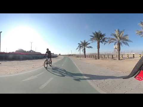 Doha airport cycle track ride on natinal sports day