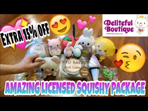 DELITEFUL BOUTIQUE SQUISHY PACKAGE ~ SO MANY AMAZING LICENSED SQUISHIES + 15% OFF COUPON CODE!!!