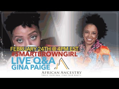 #SmartBrownGirl Live Q&A w/ Gina Paige, African Ancestry Founder | Jouelzy