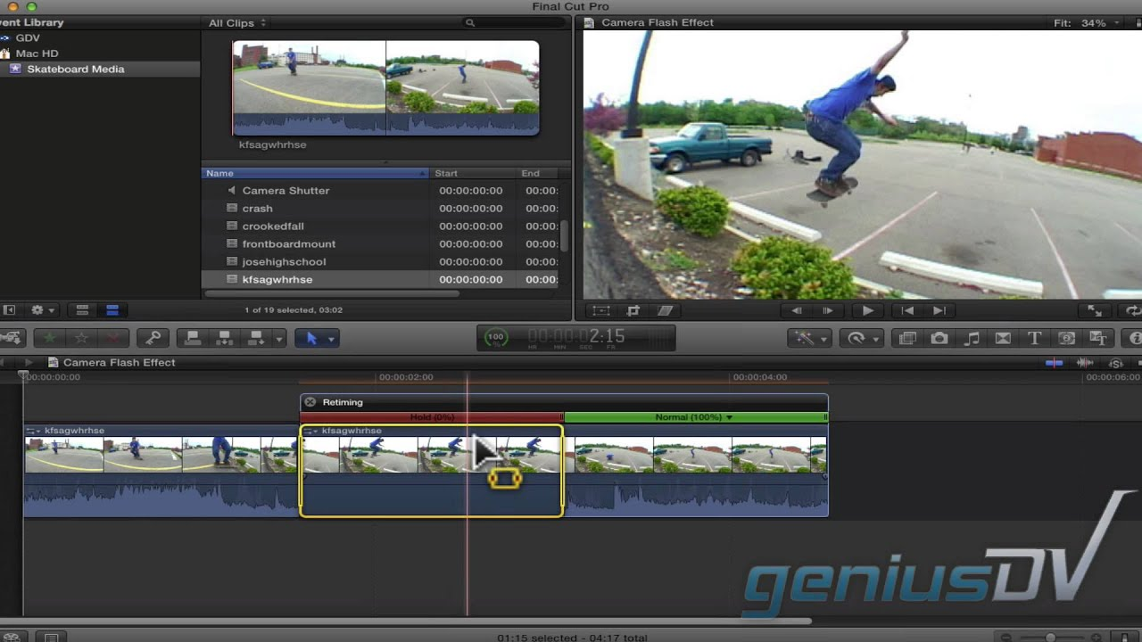 Final Cut Pro X freeze frame flash - YouTube