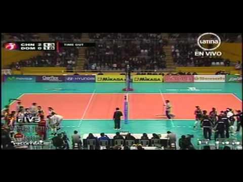 China x Rep Dominicana 3set FIVB Women's Junior 2011