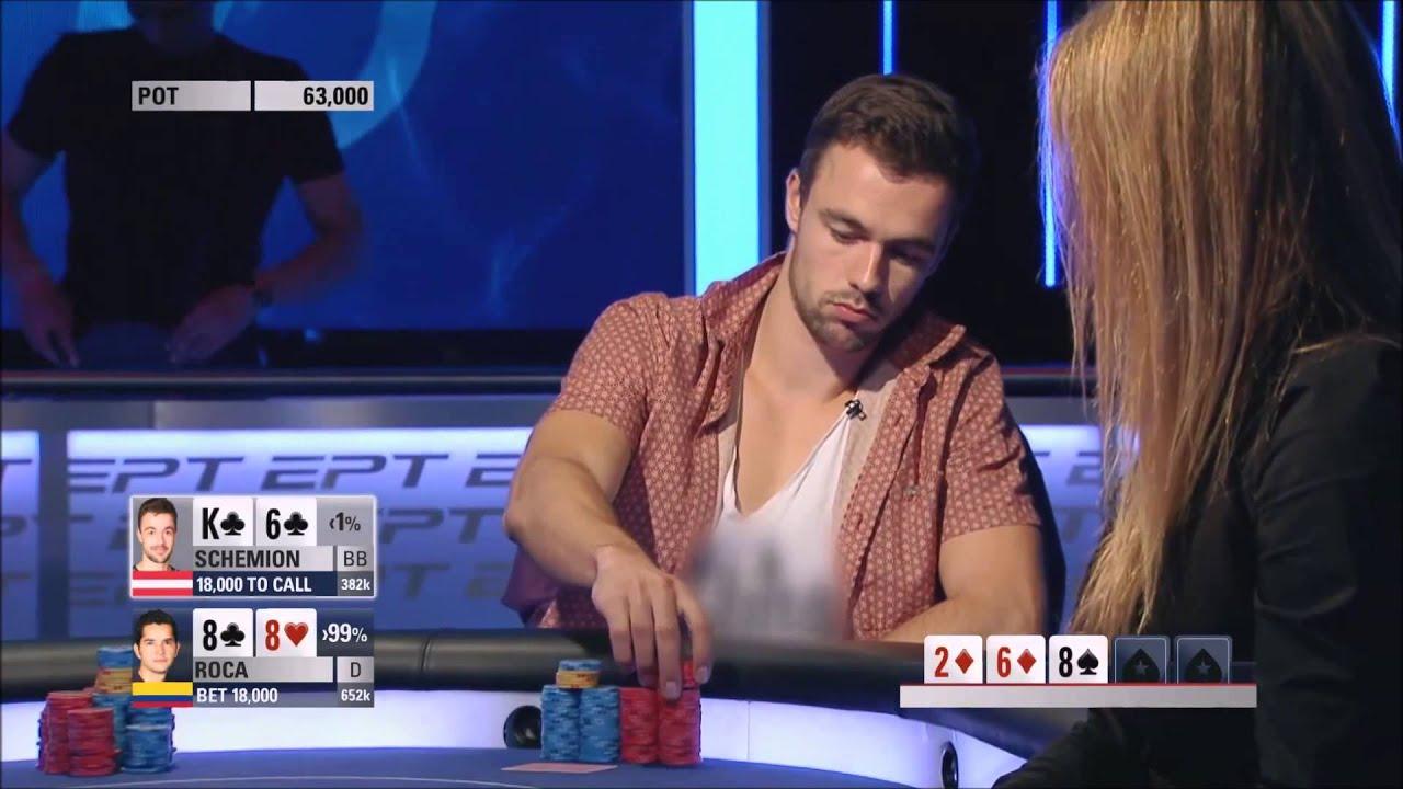 Tree Of A Kind Vs Full House Schemion Vs Roca Ept 10 Grand Final Poker Highlight Youtube
