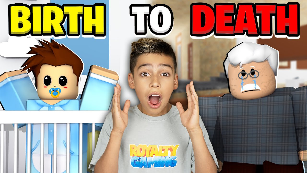 BIRTH to DEATH in Roblox Brookhaven! (Emotional Ending)   Royalty Gaming
