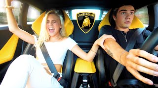 My girlfriend's FIRST time in a LAMBORGHINI...