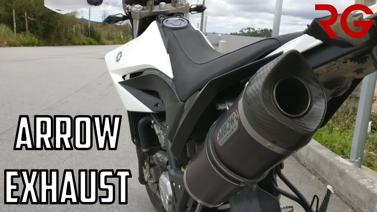 yamaha wr 125 x full arrow exhaust system exhaust. Black Bedroom Furniture Sets. Home Design Ideas