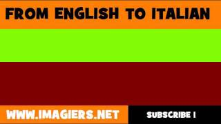 FROM ENGLISH TO ITALIAN = least developed country