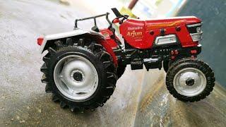 Mahindra Arjun 605 Di Tractor Unboxing Video Scale Model Tractor Kids Toy Tractor Power ji boom baa