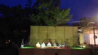 Beautiful traditional Japanese music played live at a summer festival in Tokyo