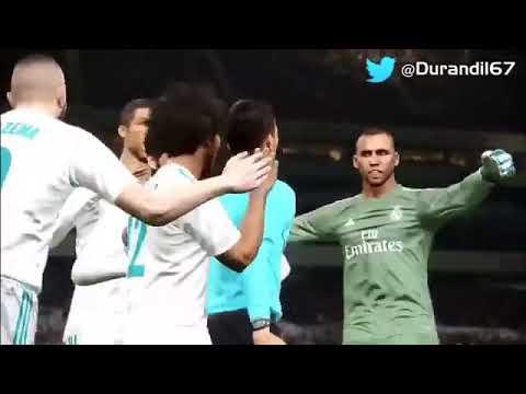 Un montaje del árbitro celebrando el gol de penalti del Real Madrid se hace viral