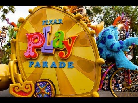 Pixar Play Parade - New Monsters University and Inside Out Pre-Parade - Disney California Adventure