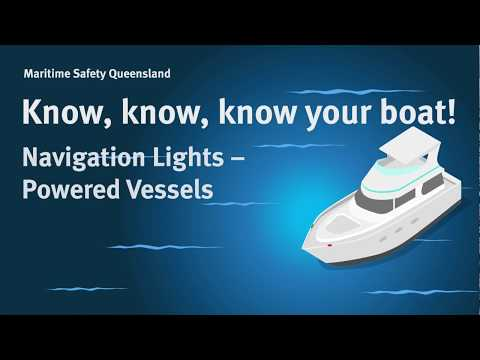 Maritime Safety Queensland - Navigation Lights: Powered Vessels