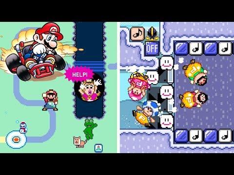 A Mario Kart SUPER WORLD Created In Super Mario Maker 2