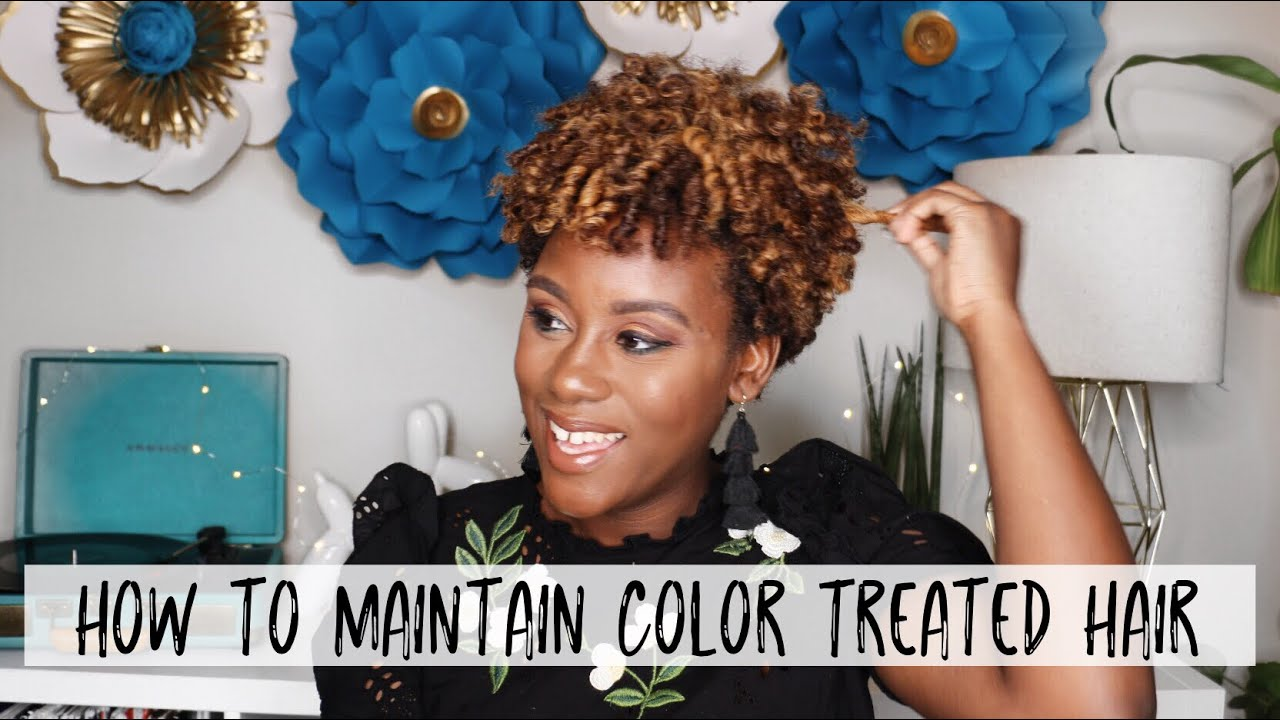 How To Prevent Breakage Care For Color Treated Natural Hair Easy Healthy Hair Tips