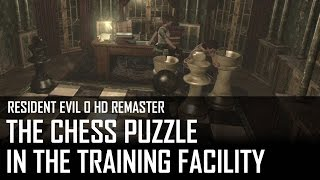 Resident Evil 0 HD - How to solve the chess puzzle in the training facility?