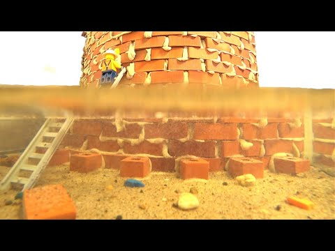 Dam Breach Experiment #8 – Arch Dam Model Fail