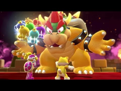 Super Mario 3D World 2-Player Walkthrough - World 7 (All Green Stars & Stamps)