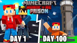 I Spent 100 Days in Max Security Minecraft Prison... Here's What Happened