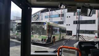【前面展望】地下鉄住之江公園~フェリーターミナル駅~南港六丁目【大阪市交通局バス・15系統】