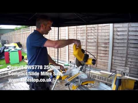 Dewalt DWS778 250mm Compact Slide Mitre Saw - a Toolstop REVIEW