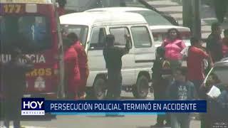 Víctor Larco: Persecución policial terminó en accidente