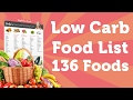 Low Carb Foods List (Printable) - 136 Foods To Lose Weight Fast