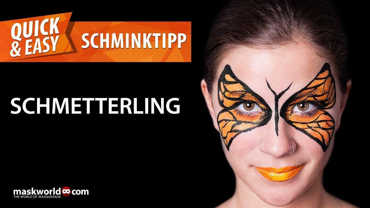 Schminktipps Schnell Einfach Schmetterling Von Maskworld Com