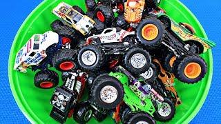 Monster Trucks for Kids   Learn Monster Truck Names & Colors   Fun & Educational Organic Learning