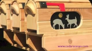 Cedar Scenes Mailboxes
