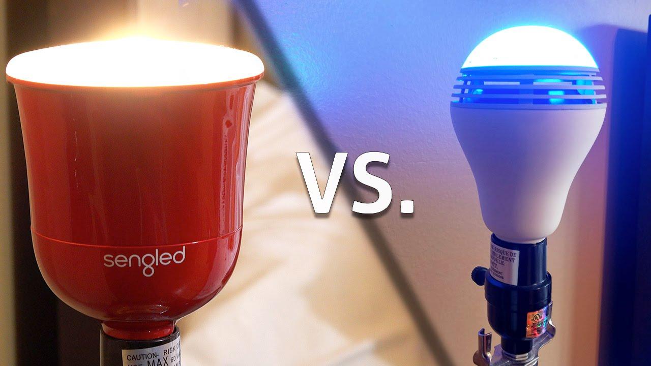 Sengled Pulse Vs Playbulb Color Smart Speaker Lightbulbs