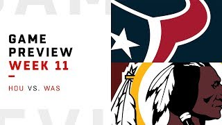 Houston Texans vs. Washington Redskins | Week 11 Game Preview | Move the Sticks