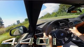 BMW 440i TOP SPEED & ACCELERATION on AUTOBAHN Sound Test Drive Onboard