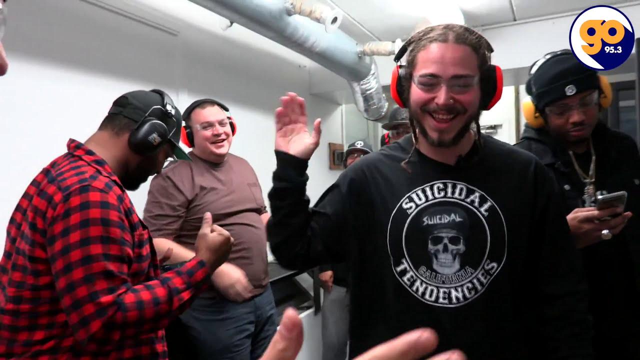 Post Malone Shooting Guns At Bills Gun Range with Auggie 5000 Part 2