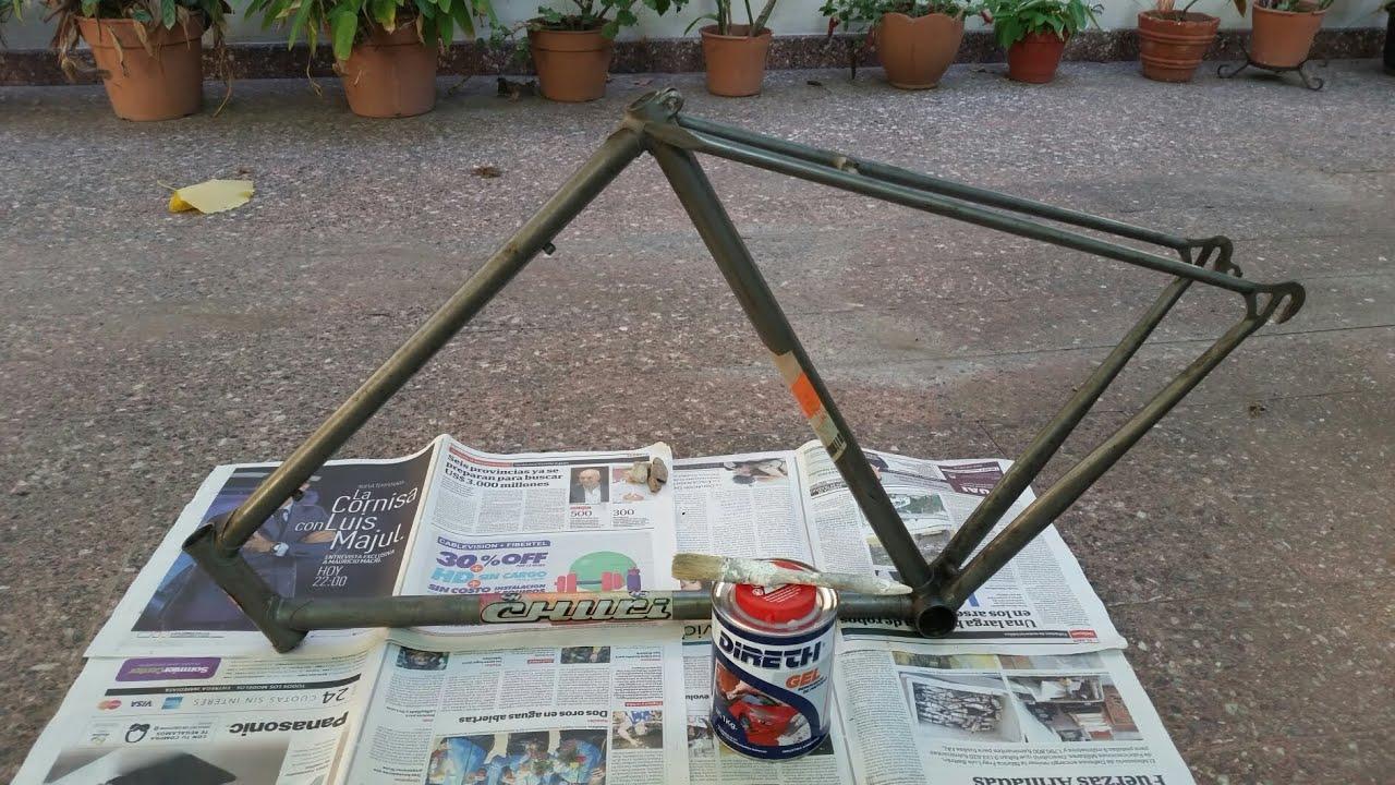 Parte 6 - Restauración de bicicleta - Despintar cuadro de Fixie - Al ...