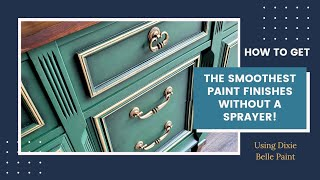How to get smooth, brush stroke free paint finishes