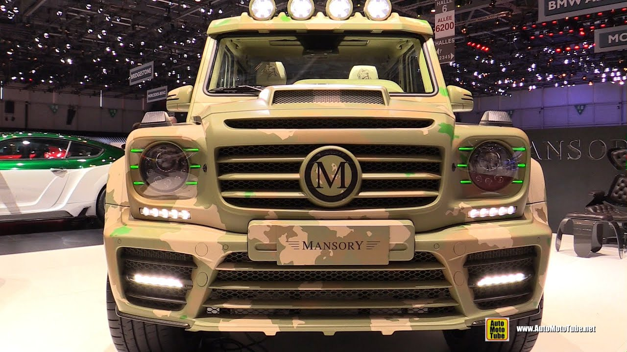 2015 mercedes benz g class g65 amg mansory sahara edition walkaround 2015 geneva motor show youtube - Mercedes G Interior 2015