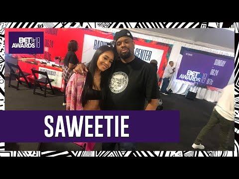Saweetie talks with BIGVON at the BET Awards 2018 Radio Room!