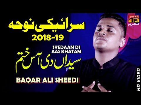Sayedan De Aas Khatam Tai || Baqir Ali Sheedi || New Noha 2018 || TP Moharram