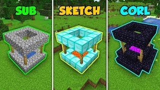 SUB vs SKETCH vs CORL - DEEPEST WELL in Minecraft! (The Pals)