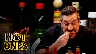 Joey Fatone Talks *NSYNC, DJ Khaled, and Guy Fieri While Eating Spicy Wings   Hot Ones