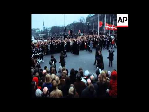 SYND24/01//72 KING FREDERICK OF DENMARK FUNERAL