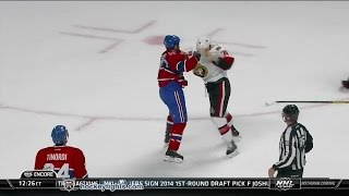 Mark Borowiecki vs Brandon Prust Oct 4, 2014