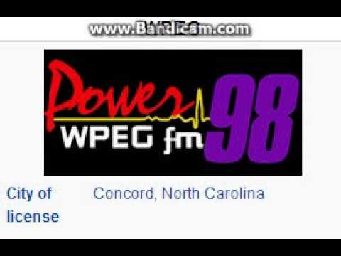 WPEG 97.9 Power 98 Concord, NC TOTH ID at 3:00 a.m. 7/20/2014
