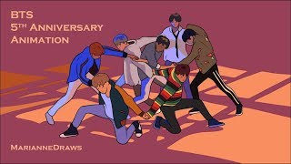 BTS Animation - 5 Years with BTS!