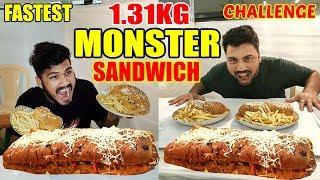 1.31KG MEGA MONSTER SANDWICH CHALLENGE | BIGGEST SANDWICH IN MUMBAI | | Food Challenge India(Ep-67)