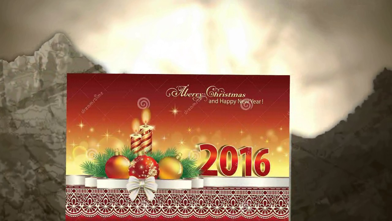 Merry Christmas Greeting Cards 2016 Youtube