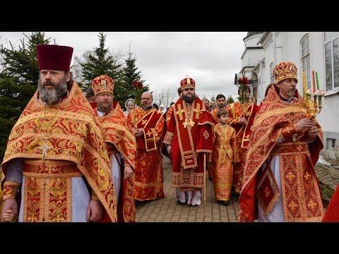 Архиерейское богослужение в Рославле. Поздравление духовенства епархии с Пасхой